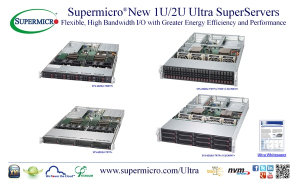 Supermicro® New 1U/2U Ultra SuperServers