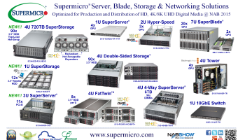 Supermicro® Ships New 4U 72x 3 5″ Hot-Swappable HDD Storage Solution