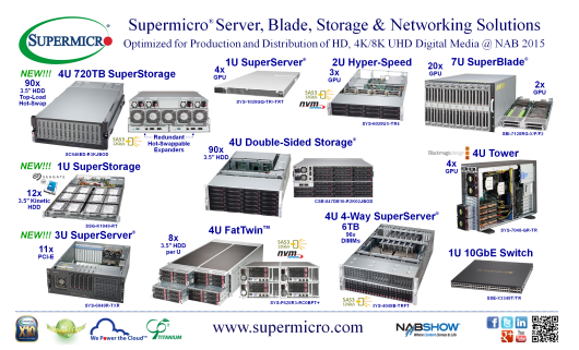 "Supermicro® Debuts New 720TB 4U 90x 3.5"" Top-Load Hot-Swap, SAS3 12Gb/s HDD SuperStorage® JBOD Platform"