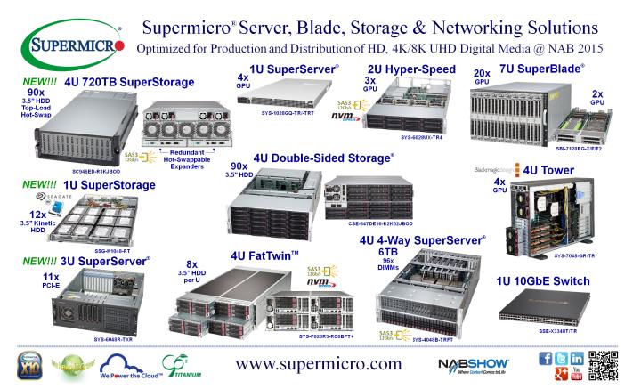 """Supermicro® Debuts New 720TB 4U 90x 3.5"""" Top-Load Hot-Swap, SAS3 12Gb/s HDD SuperStorage® JBOD Platform"""