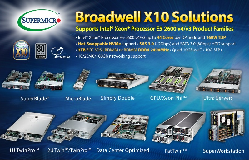 Supermicro Broadwell X10 Solutions