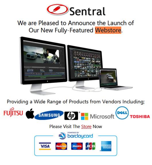 Sentral's New Webstore